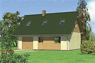 Projekt garażu Murator G27c Garaż z poddaszem i pomieszczeniem gospodarczym