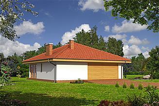 Projekt sauny Murator GC58 Garaż z pomieszczeniem gospodarczym, sauną i wiatą rekreacyjną