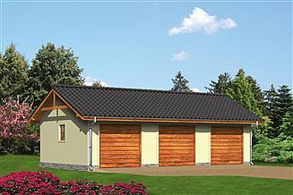 Projekt garażu Murator G12a Garaż