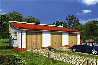Projekt garażu Murator GC92 Garaż