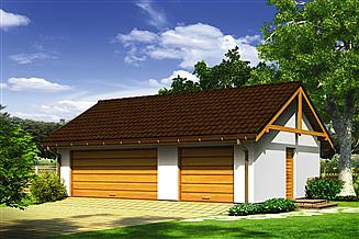 Projekt garażu Murator G55 Garaż