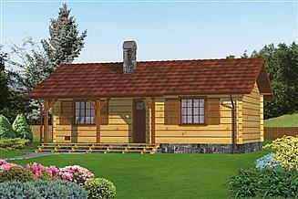 Projekt domu letniskowego Murator DL10S Kanikuła (rekreacyjny)