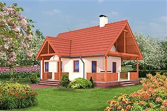 Projekt domu letniskowego Murator DL08 Letnik (rekreacyjny)