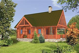 Projekt domu letniskowego Murator DL08S Letnik (rekreacyjny)
