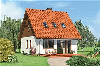 Projekt domu letniskowego Murator ML04 Pawłówka (rekreacyjny)
