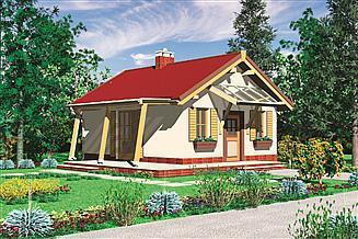 Projekt domu letniskowego Murator DL04 Romantyczny (rekreacyjny)