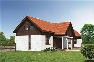 Projekt stajni Murator SC10 Stajnia dla 7 koni z częścią mieszkalną i poddaszem gospodarczym