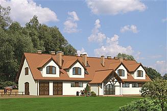 Projekt stajni Murator S16a Stajnia dla 14 koni z częścią mieszkalną