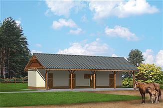 Projekt stajni Murator SC02 Stajnia dla 4 koni