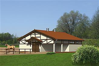 Projekt stajni Murator S02a Stajnia dla 4 koni