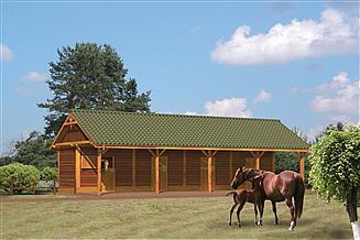 Projekt stajni Murator SC02S Stajnia dla 4 koni