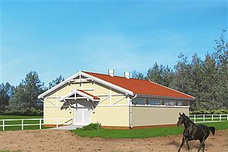 Projekt stajni Murator S03 Stajnia dla 6 koni