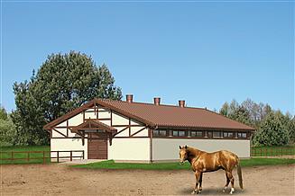 Projekt stajni Murator S07 Stajnia dla 10 koni