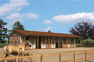 Projekt stajni Murator S14S Stajnia dla 6 koni