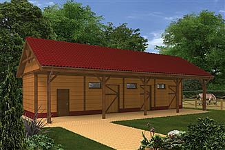 Projekt stajni Murator SC08S Stajnia dla 3 koni