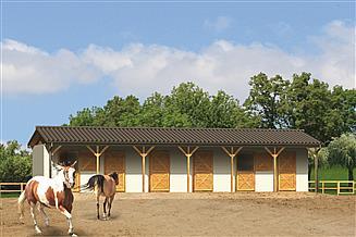 Projekt stajni Murator S14 Stajnia dla 6 koni