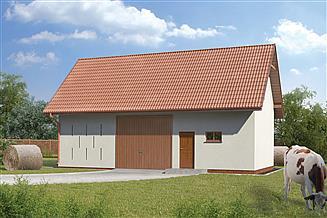 Projekt stodoły Murator IGC15 Stodoła z pomieszczeniem gospodarczym