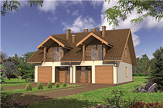 Projekt domu Murator BCC203 Szczupły (bliźniak)
