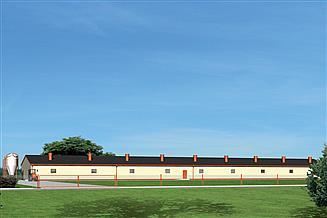Projekt tuczarni Murator T14 Tuczarnia dla 1260 sztuk, na rusztach