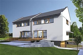 Projekt domu Murator BCC286 Uniwersalny (bliźniak, podpiwniczony)