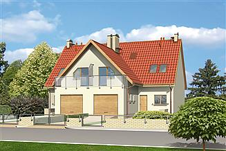 Projekt domu Murator BC02 W symbiozie (bliźniak)