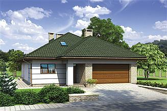 Projekt domu Murator M132c Wariantowy - wariant III (etap II)