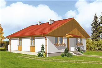 Projekt domu letniskowego Murator C140 Z nadzieją (rekreacyjny)
