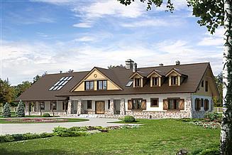 Projekt pensjonatu Cykada 5 Pensjonat, Hotel, Dom weselny