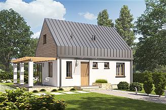 Projekt domu D58A - Ewelina A