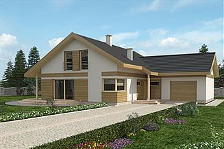 Projekt domu Marcel z garażem