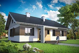 Projekt domu Domino Rex - murowana – beton komórkowy