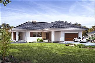 dom jednorodzinny z garażem –projekt domu Ambrozja 3