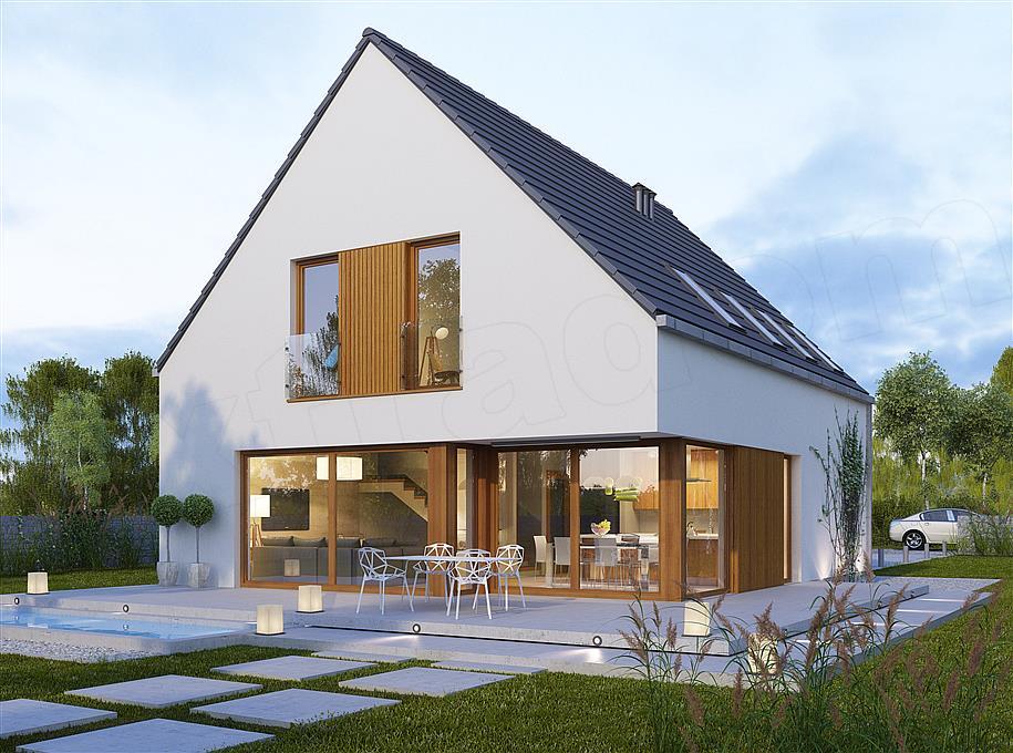 Inteligentny Projekt domu Oktawian 140 m2 - koszt budowy 216 tys. zł - EXTRADOM NT47