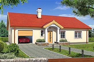 Projekt domu Igor A garaż