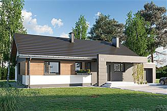 Projekt domu Linus - murowana – beton komórkowy