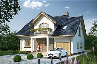 dom jednorodzinny z garażem – projekt domu APS 261