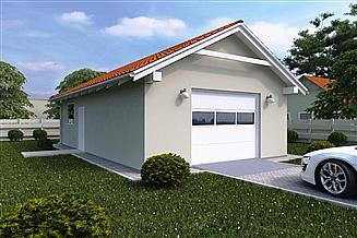 Projekt garażu G123 - Budynek garażowy