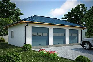 Projekt garażu G124 - Budynek garażowy