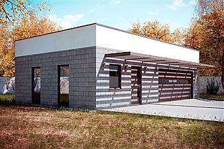 Projekt garażu G165 - Budynek garażowo - gospodarczy