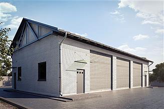Projekt garażu G166 - Budynek garażowo - gospodarczy