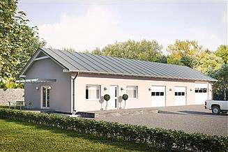 Projekt garażu G171 - Budynek garażowo - gospodarczy