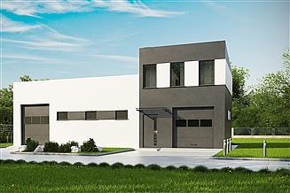 Projekt garażu G184 - Budynek garażowo - magaznowy