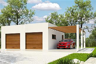 Projekt garażu G198 - Budynek garażowy