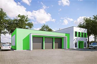 Projekt garażu G213 - Budynek garażowo-gospodarczy