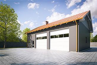 Projekt garażu G215 - Budynek garażowo - gospodarczy