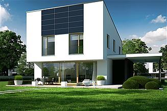 Projekt domu EX 12 soft (z wiatą)