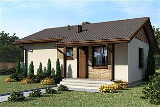 Projekt domu D51 - Justyna wersja drewniana