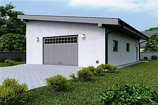 Projekt garażu G149 - Budynek garażowy
