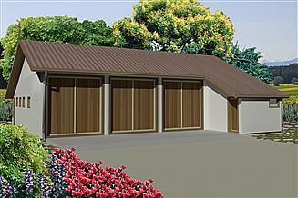 Projekt budynku gospodarczego WB-3740