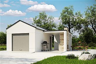 Projekt garażu G187 - Budynek garażowy
